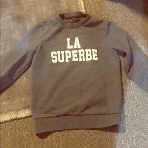 Madewell x Sezane gray sweatshirt